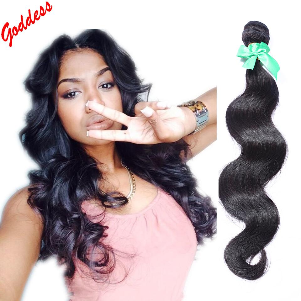 goddess unprocessed peruvian virgin hair body wave hair bundles 2pcs/lot natural black hair weave 100% human hair extension soft