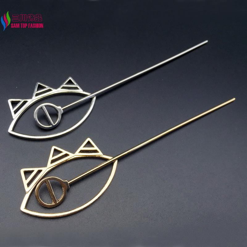 Wholesale new arrival fashion trendy gold/silver metal alloy crown hair clasp jewelry hair sticks for women accessories(China (Mainland))