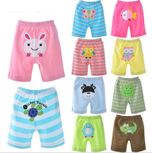 Baby shorts boy and girl short pants  5 pieces/ lot 2015 summer  cotton tracksuits sport  pp pants hot sale baby clothing(China (Mainland))