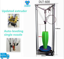 High precision 2004 LCD Auto- leveling single nozzle DLT-600 delta 3d printer kit large print size printer  280mm*600mm