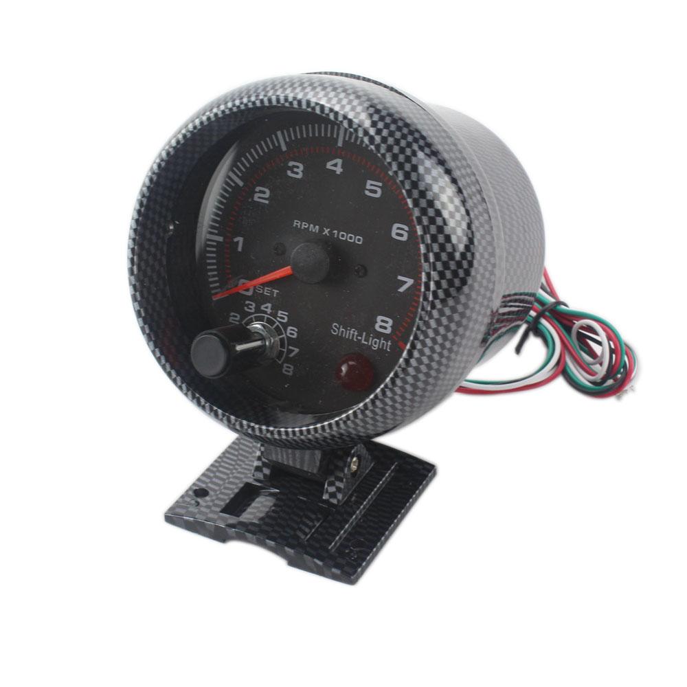 52mm car auto tacho tachometer gauge blue digital led. Black Bedroom Furniture Sets. Home Design Ideas