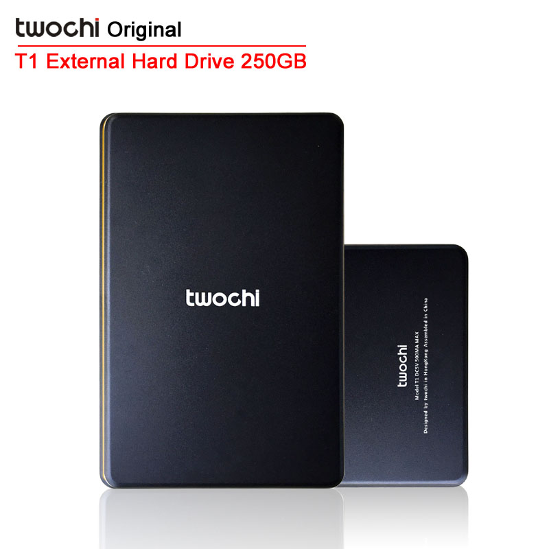 Free shipping 2015 New Style 2.5 inch Twochi USB2.0 HDD 250G Slim External hard drive Portable Storage disk wholesale and retail(China (Mainland))