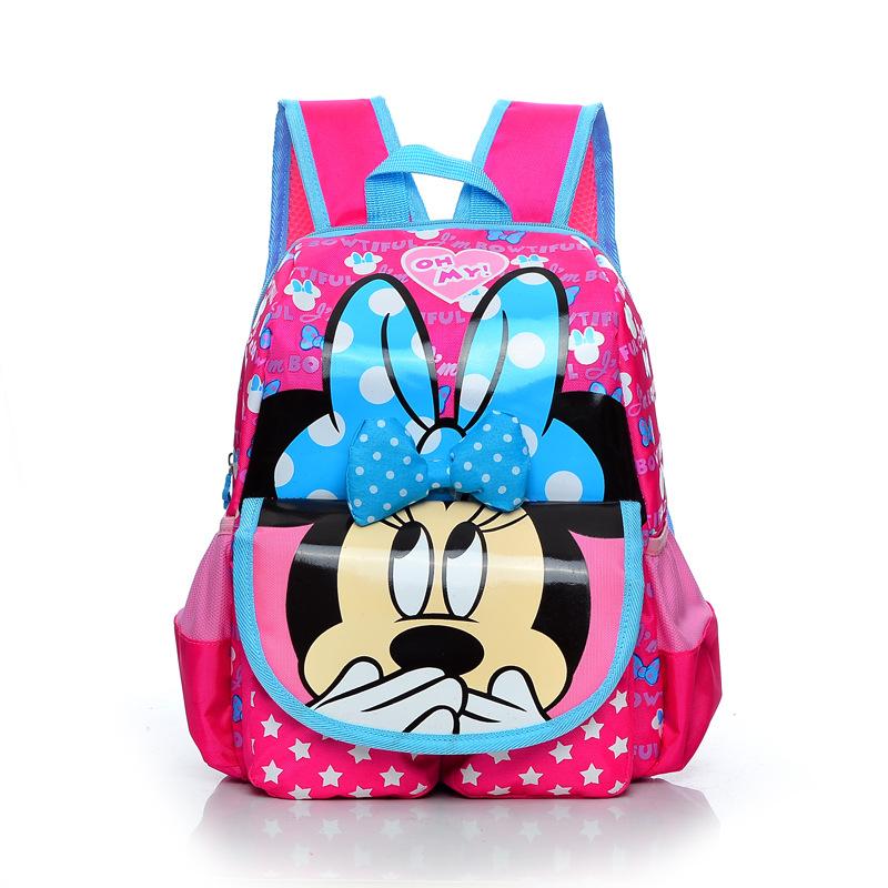 High Quality Cartoon Mickey School Bags Children Backpacks Kid Bag kindergarten Preschool Backpack Kids Satchel Free Shipping