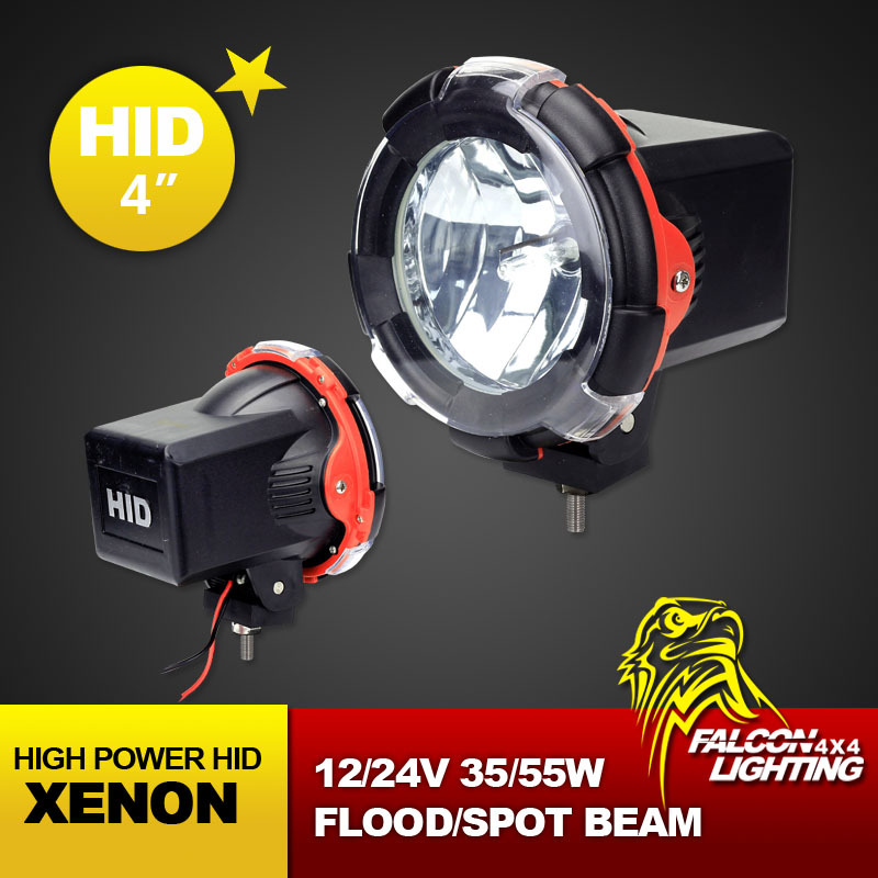 """4"""" Inch 9-32V 55W Fire Engine HID Xenon Drive Working Lamp, Off-road Light Flood Spot 9-32V For 4x4 4WD SUV UTE ATV + Free Cover(China (Mainland))"""