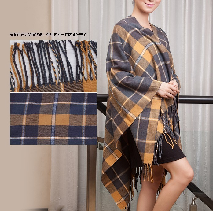 2013 New Fashion style Plaid Women Winter Pashmina Cashmere Shawl Scraf Scarves wrap SW13(China (Mainland))