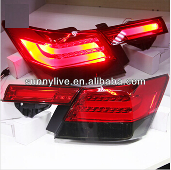 For HONDA Accord LED Tail Light for BMW Style Red Black Color 2008-2012 Year YZ(China (Mainland))