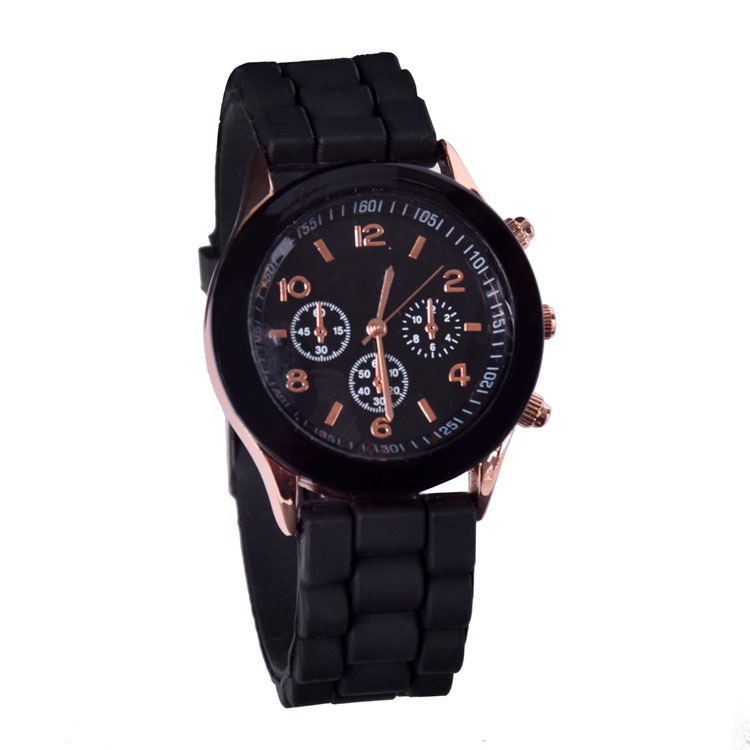 Fashion Super Soft Geneva Womens Jelly Silicone Sports Watch Students Watch