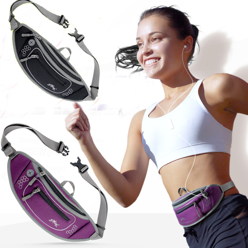 2015 New Neoprene Men Women Close fitting Running Waist Pack Outdoor Sports Cycling Fanny Pack Bum