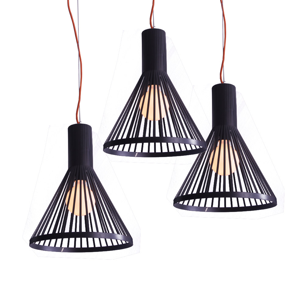 Popular DIY LED E27 Black Iron Line Shade Contemporary Pendant Lamp With Colorful Cable Pendant Ceiling Chandelier Lighting<br><br>Aliexpress