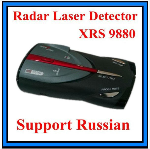 Cobra XRS 9880 Digital Radar Laser Detector ,Can show speed . Show the frequency of radar device.Support Russian