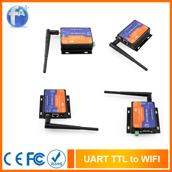 [USR-WIFI232-610] Free shipping High Performance WIFI TCP IP Serial Server(China (Mainland))