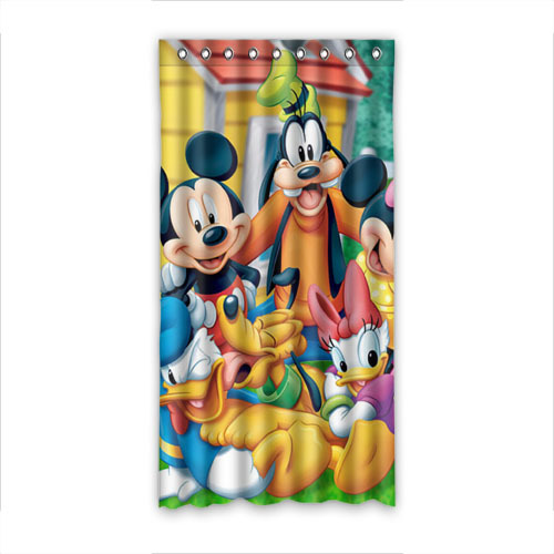 """Hot Selling Valance Cartoon Mickey Mouse and Minnie Mouse Window Curtain Beautiful Curtain for Home Cafe Window Decor 50""""x96""""(China (Mainland))"""