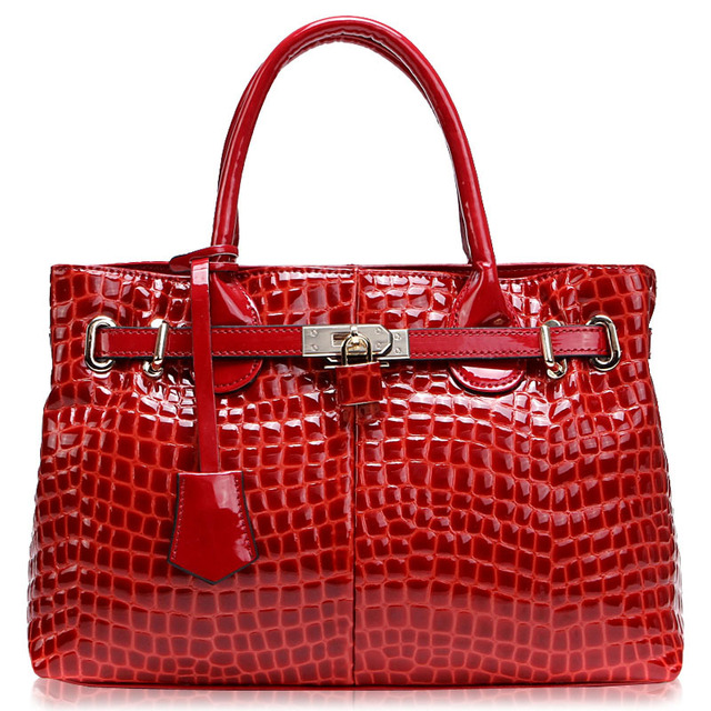 2013 Fashion Crocodile Pattern Serpentine Cowhide Leather Designer Hobo Handbags for Women Tote Bags, Lady Purse Free Shipping