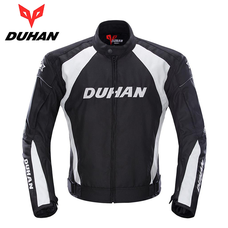 DUHAN Men's Motorcycle Windproof Riding Jaqueta Men's Motocross Off-Road Racing Sports Jacket Clothing with Protector Guards(China (Mainland))