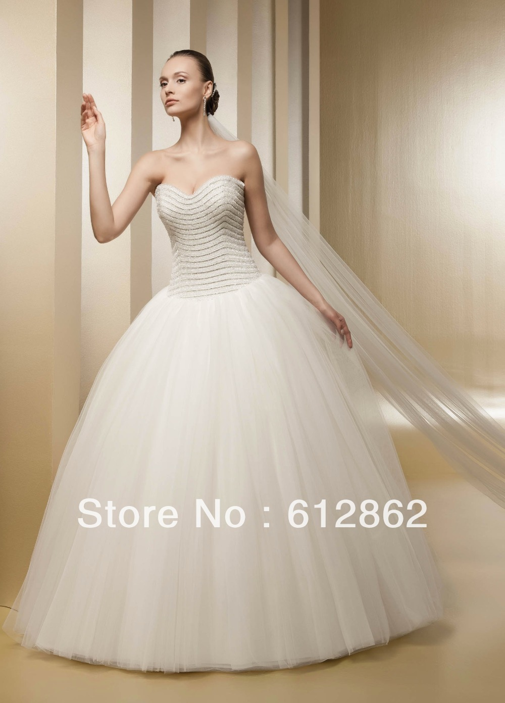 Strapless sweetheart ball gown crystal beaded corset for Beaded corset wedding dress