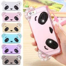 Cute Bear Cartoon Case For iPhone 6 6S Fashion Candy Color Soft TPU Clear Back Cover For iPhone 6 4.7inch / 6S Phones With Strap