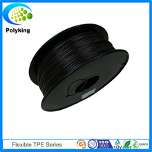 Wholesale Black Color Flexible TPE Rubber Filament 3D Printer Filament 1.75mm 3.0mm TPE Flex Filament 1kg/Spool