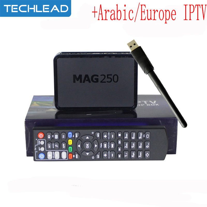 MAG250 linux OTT TV box usb wifi m3u with Arabic IPTV account APK code Italian French UK Spain NL Turkish Germany Europe TV list(China (Mainland))