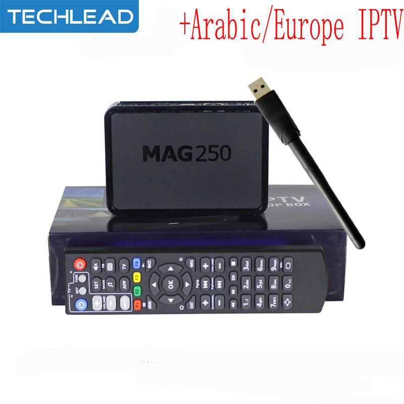 MAG250 linux TV box usb wifi m3u with Arabic IPTV account APK code Italian French UK Spain NL Turkish Germany European TV list(China (Mainland))