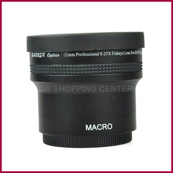 58mm x0.25 Fisheye Wide Angle Fish-Eye + Macro Lens For Canon 18-55mm 55-250mm