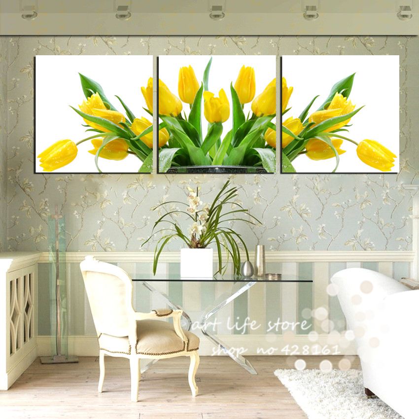 3 Piece Wall Pictures For Living Room Modern Painting Home