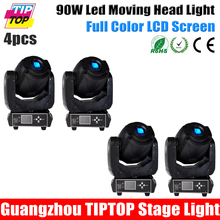 Discount Price 4PCS Gobo 90W Led Moving Head Spot Light TP-L606D New Case New Function LCD Screen DMX512/Master-Slave/Auto run(China (Mainland))