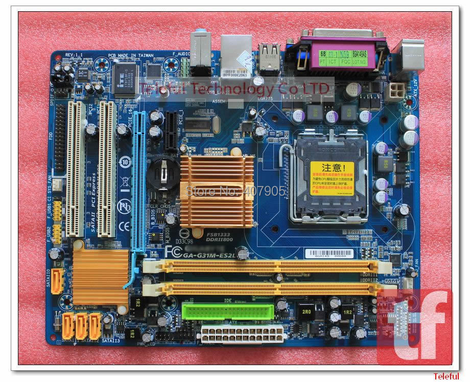 LGA 775 Motherboard for GA-G31M-ES2L G31+ICH7 DDR2 100%Tested &Working perfect(China (Mainland))
