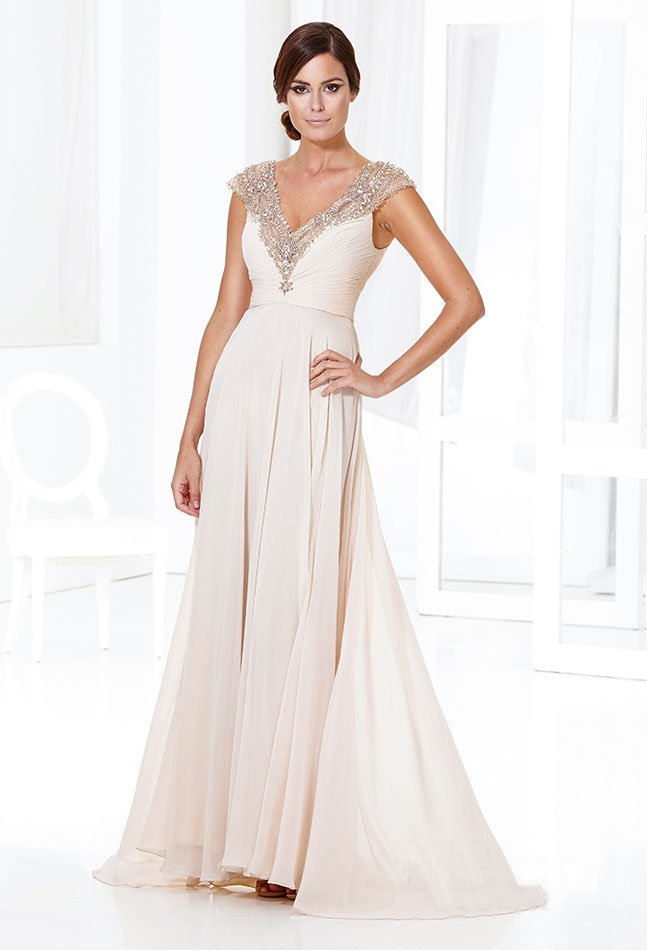 Ivory colored party dresses