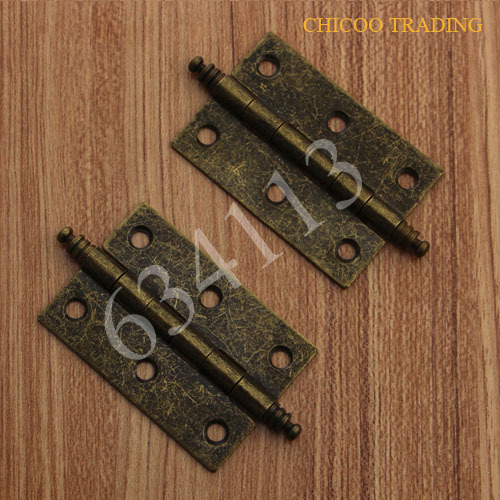 Antique Brass furniture hinge 63x41mm Kitchen Cabinets Drawer Pulls door hinge(China (Mainland))
