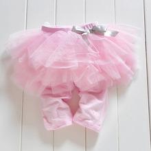 Princess Girl Kids  0-3Years Culottes Leggings Gauze Pants Party  Bow Tutu Skirts Hot(China (Mainland))