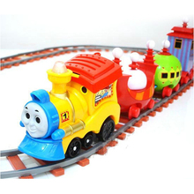 D410 Thomas electric train track children's music Tinker car simulation car(China (Mainland))