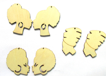 5pairs/lot  Laser Cut African Afro Head Wooden Earrings For Women can mixed 3 designs (China (Mainland))