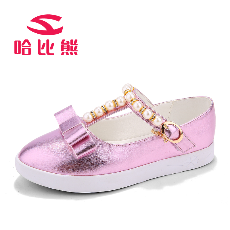 2015 Hobibear Free Shipping GS2099  Fashion Leather Single Sneaker Bowtie Princess Girls Sandals Dress Girls Party Shoes<br><br>Aliexpress