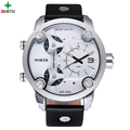 Men Sports Watches 2016 NORTH Brand Fashion Men s Quartz Hour Clock Man Leather Military Army