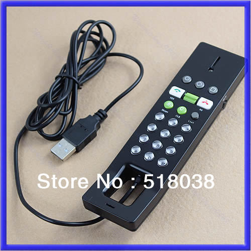 E93 Free shipping New USB Phone Telephone Internet VoIP Skype Handset For Notebook PC BK