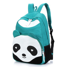 New 2016 Lovely Panda Colors WomenTravel Bag Canvas Shoulder Bag Backpacks Children School Bags