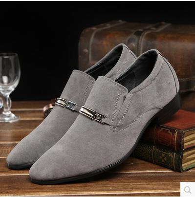 2015 fashion men's pointed toe daily casual scrub breathable dress shoes male spring autumn height increasing korean sale - Fashion Men & Women Shoes store