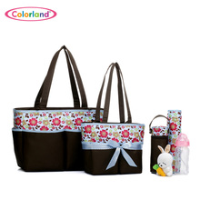 5 pieces set Large capacity Nappy Tote Hobos maternity Nursing baby bag set Mothers sorting bag set 5 in 1 BB640