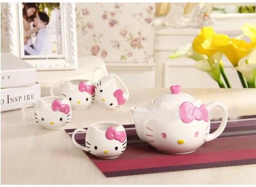 Image Gallery Hello Kitty Tea Set