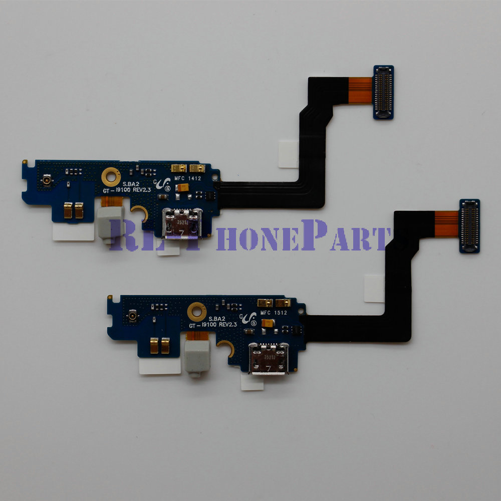 DHL 200pcs/lot Microfone Flex Cable +USB Charger Port Charging Dock Connector Flex Cable For Samsung Galaxy S2 I9100 2.2 / 2.3(China (Mainland))