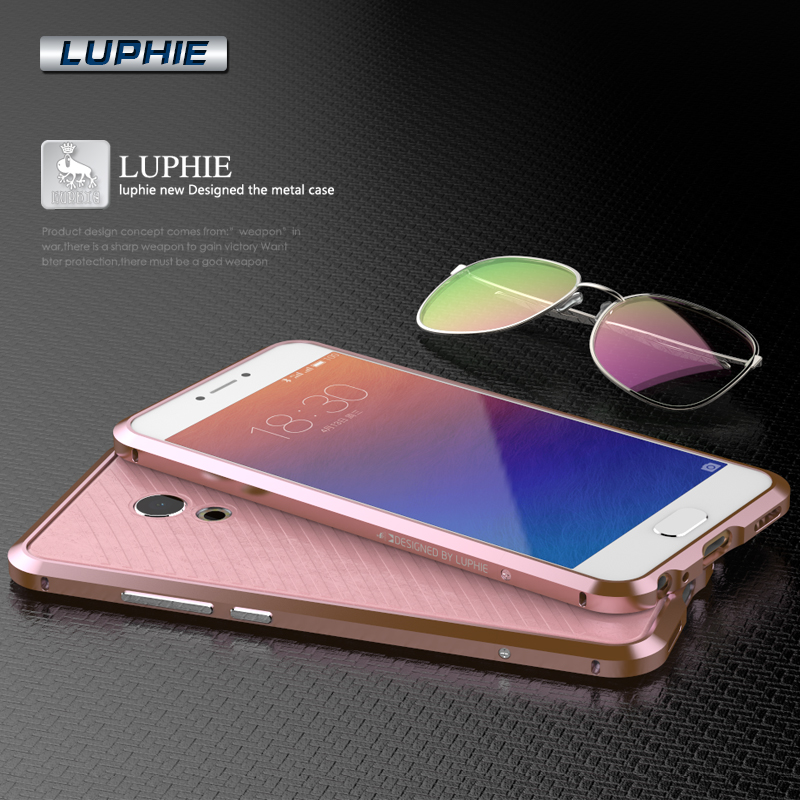 With Leather Phone Sticker! Fashion Superior Diamond-shaped Metal Alloy Cell Phone Case Bumper For Meizu Pro 6 Pro6 With Screws(China (Mainland))