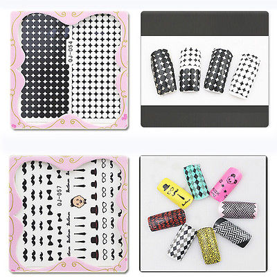 Various Nail Art Decals Half Wraps French Manicure Water Transfer Stickers(China (Mainland))