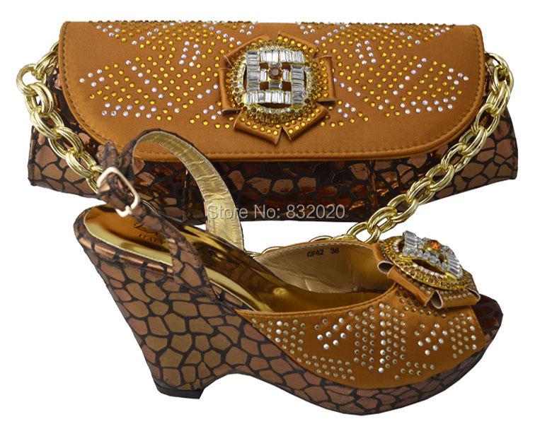 High Quality Ladiesu0026#39; Fashion Wedding Dress Shoes With Matching Evening Bag In BLACK BROWN ...