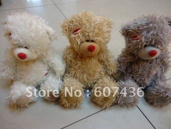 three colors Valentine Teddy Bear begging me to you Plush toy inflatable toys 13cm