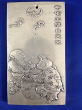 Old Chinese 12 Zodiac Dragon tibet Silver Bullion silver statue amulet   Coin