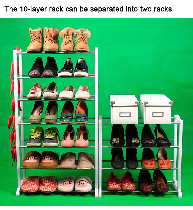 Ten tiers shoe rack/ ten layers shoe shelf 1pc free shipping