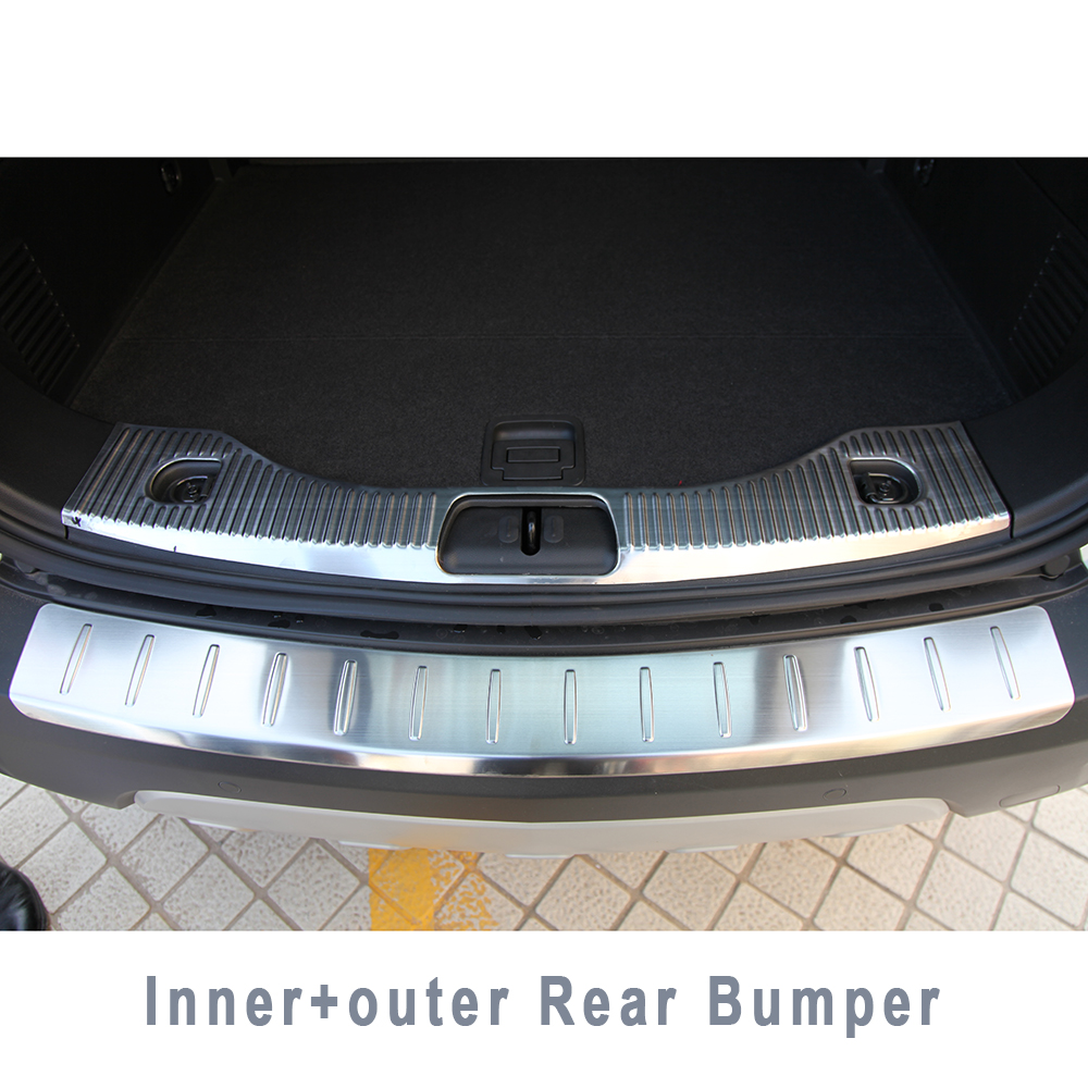 STAINLESSSTEEL REAR BUMPER PROTECTOR TRIM COVER PLATE CHROM ACCESSORIES FOR 2013 2014 2015 2016 OPEL VAUXHALL MOKKA BUICK ENCORE(China (Mainland))