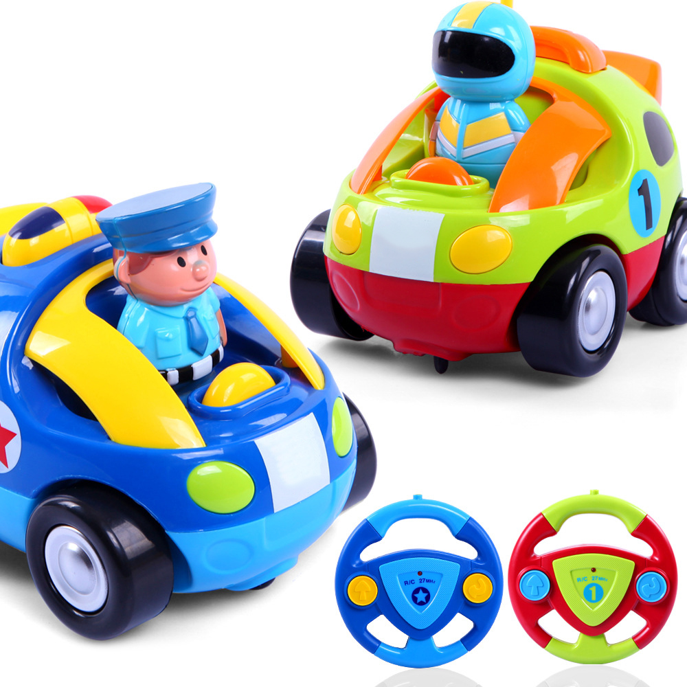 2016 New Cartoon Remote Control RC Mini Po-lice Cars With Music And Lights Electric Radio Control Toys for Baby Toddlers Kids(China (Mainland))