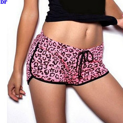 Rose Leopard Sexy Swim Shorts Women Plus Size Summer Style Board Shorts Sexy Beach Short De Bain Femme Swimming Shorts For Women