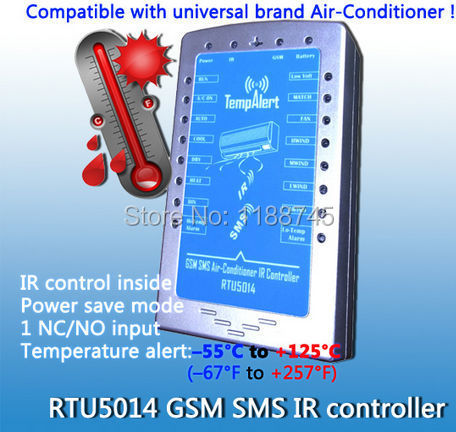 SMS Remote Switch IR Air-conditioner Remote Controller GSM Alarme System Factory Directly Sales Energy Saving RTU5014 Dual Band(China (Mainland))